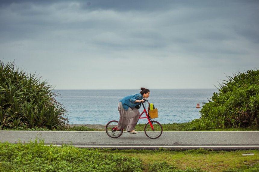 Bicycling at Qixingtan