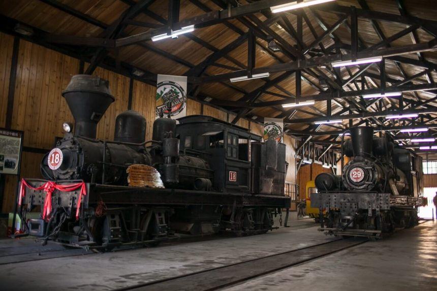 Old steam locomotives in Fenqihu
