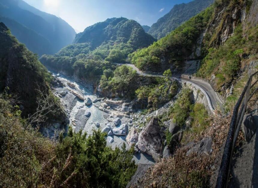 The Liwu River running through Taroko Gorge