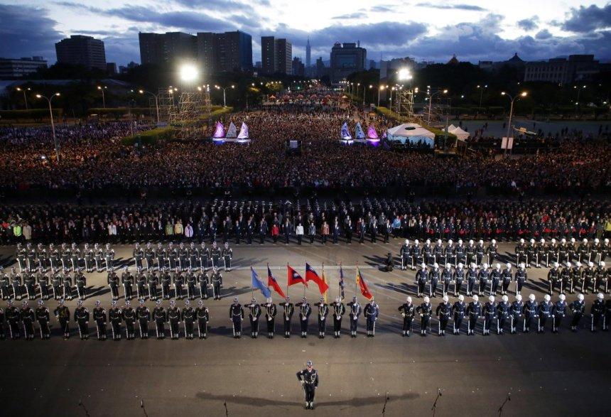 taiwan-scene-new-year-celebration-presidential-palace-flag-raising-ceremony