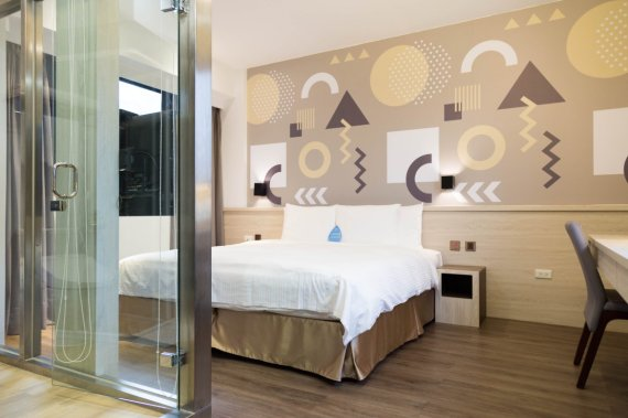 Double Room of INNK Hotel (image source: FunNow)