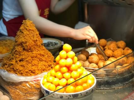 The famous Liu Yu Zi Taro Ball at Ningxia Night Market