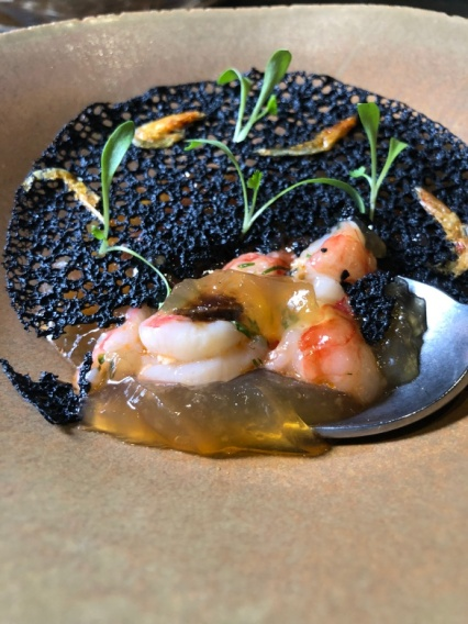 Gastro Month Menu of Orchid - Jelly-shrimp (image by hungryintaipei )